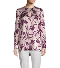 delainey floral silk blouse