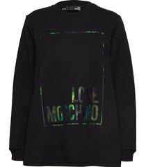love moschino sweatshirt sweat-shirt tröja svart love moschino