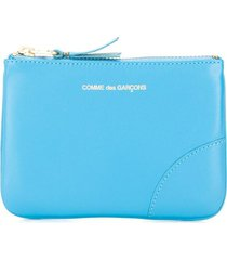 comme des garçons wallet colour pop zipped wallet - blue