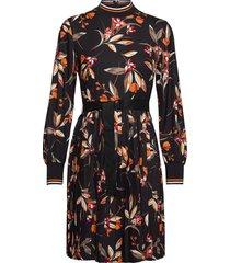 eliva drape ls pleated dress knälång klänning svart french connection