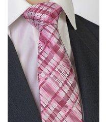 jedwab krawat męski jedwabny w kratkę