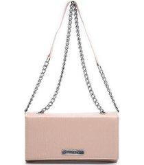 bolsa clutch transversal alça corrente dia a dia feminina