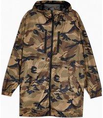 mens black camouflage parka jacket