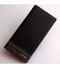 billetera, monedero lichi billetera larga de los-negro