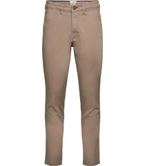 slhslim-miles flex chino pants w noos chinos byxor beige selected homme