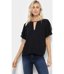 blusa colcci com transparência feminina