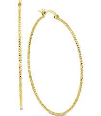 essentials thin hoop earrings in gold-plate