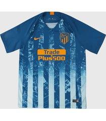 camiseta azul-naranja nike atlético third 2018 2019 stadium