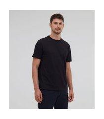 camiseta comfort em algodão peruano lisa | marfinno | preto | gg