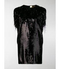 msgm sequin shift dress