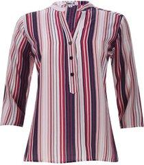 blusa lineas verticales de colores color blanco, talla xs