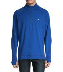 tommy bahama men's palm harbor quater-zip sweatshirt - blue - size xl