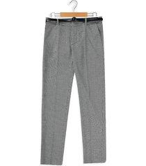 pantalón negro-blanco mng