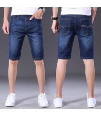 tallas grandes jeans de cintura media para hombres casual business slim fit