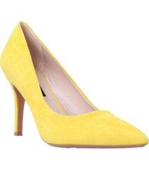 zapato cuero gamuza fifth amarillo mujer nine west