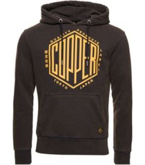 superdry men's copper label hoodie