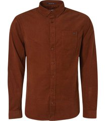 no excess shirt long sleeve fine corduroy rusty