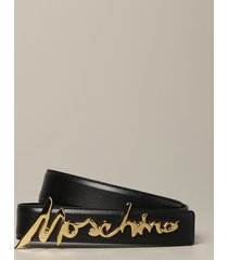 moschino couture belt moschino couture leather belt with metallic logo