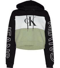 blocking statement logo hoodie hoodie multi/mönstrad calvin klein jeans