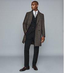 reiss hope - modern fit travel blazer in black, mens, size 46l