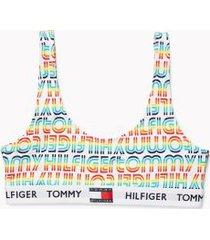 tommy hilfiger women's pride bralette white/multi - m