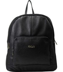 mochila de couro recuo fashion bag preta