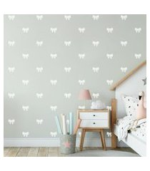 adesivo de parede de laços brancos 60un 7x6cm cobre 4m²