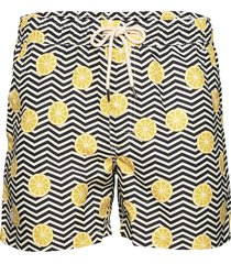 black lemon swim shorts badshorts multi/mönstrad oas