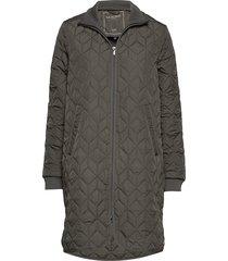 padded quilt coat doorgestikte jas grijs ilse jacobsen