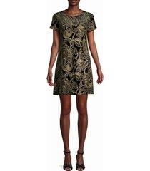 metallic embroidery paisley dress