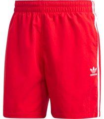 adidas originals 3 stripe swim shorts | scarlet | gd9965-3