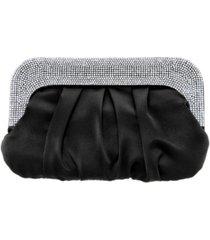 nina crystal collar soft clutch
