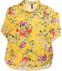 blusa chiffon flores bolero - 81110260