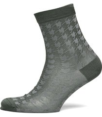 houndstooth sora sock lingerie socks regular socks grön becksöndergaard