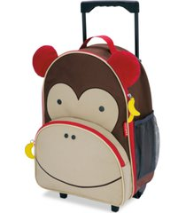 skip hop little boys & girls monkey rolling luggage