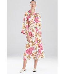 harumi satin long sleep & lounge bath wrap robe, women's, size 1x, n natori