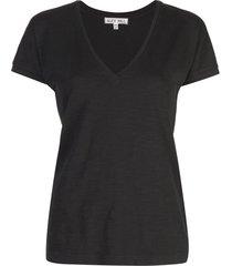 alex mill slub v-neck t-shirt - black