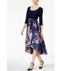 r & m richards high-low contrast dress