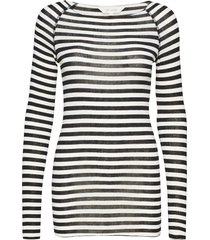 amalie medium stripe t-shirts & tops long-sleeved blauw gai+lisva