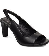 elevate 75 sleek sandal shoes heels pumps sling backs svart ecco