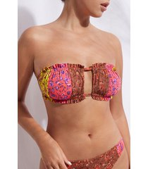 calzedonia slide bandeau top swimsuit istanbul woman multicolor size 2