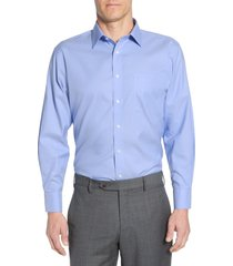 men's big & tall nordstrom men's shop smartcare(tm) traditional fit dress shirt, size 20 - 38/39 - blue
