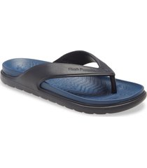 women's hush puppies bouncers flip flop, size 11 m - blue