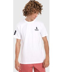 camiseta blanco-azul royal county of berkshire polo club