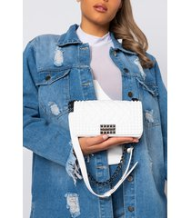 akira small quilted rubber purse