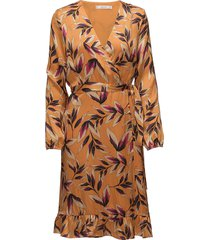 orangina wrap dress hs18 korte jurk oranje gestuz