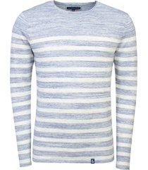 colours & sons t-shirt lang mouw gestreept blauw