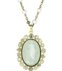 venetian glass cameo pendant