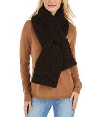 inc quilted teddy faux-fur puffer muffler scarf, created for macy's