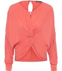 blusa feminina seda debora - laranja